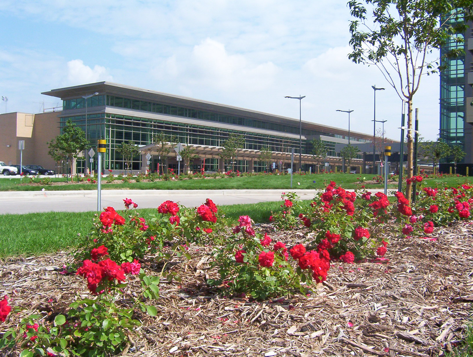 Commercial campus landscape maintenance irrigation by design